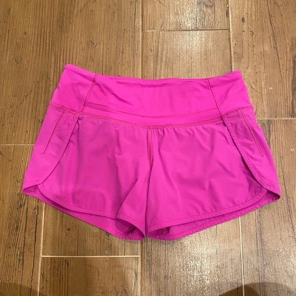 """Lululemon speed shorts 4"""" long"""